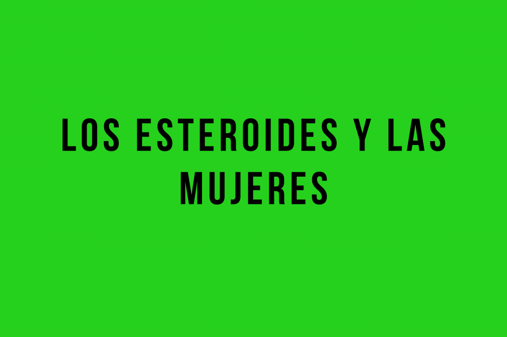 esteroides mujer